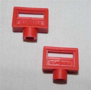 Entlüftungsschlüssel Simplex 5mm Kunststoff rot 2 Stück (7433#