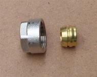 Klemmringverschraubung Eurokonus 15 mm mit Messingring / 1Stück (8297#