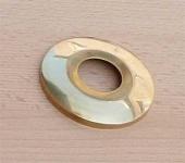 """Hahnrosette , Messing blank 3/4"""" Ø ca.67 mm / Messingrosette (8083#"""