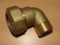 PE-Winkelverschraubung AG 90° - Messing