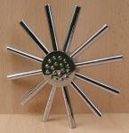 Design-Kopfbrause Stern, Messing verchromt Kugelgelenk Ø=230mm (8536#