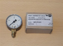 "Manometer 0-4 Bar / Axial Durch.50mm / 1/4"" AG (3324#"