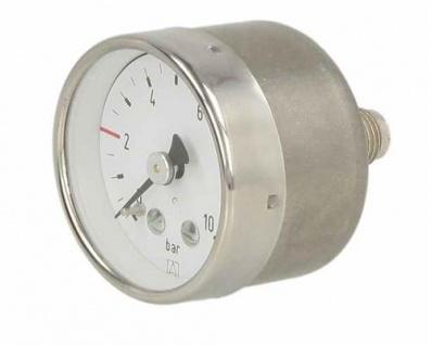 """Rohrfeder-Sondermanometer ø 40 D311S 1/8"""" axial Markierung bei 2bar (Auswahlmöglichkeiten) - Vorschau"""