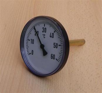 Bimetallthermometer Plast schwarz Ø100mm 40mm Tauchhülse 0-60°C (Auswahlmöglichkeiten)