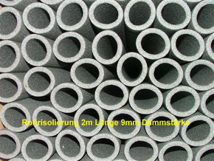 Rohrisolierung 2m Stange Ø 15 x 9mm Dämmstärke (Auswahlmöglichkeiten) - Vorschau