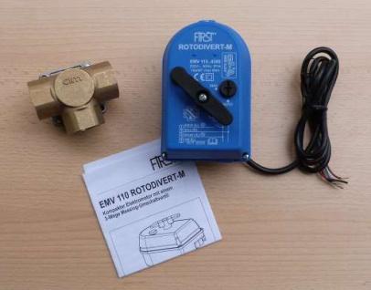 """Motorventil 3/4"""" IG /230Volt /3 Wege EMV 110 Rotodivert-M (Auswahlmöglichkeiten)"""