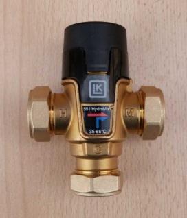 Mischventil 25 - 45°C / 15mm Klemmringverschraubung / LK 551 HydroMix (Auswahlmöglichkeiten)