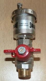 Automatischer Schnellentlüfter SOLAR mit Kugelhahn kurzer Griff 3/8 Zoll AG (Auswahlmöglichkeiten)
