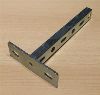 Schienenkonsole verzinkt, Profil 27/18mm x Länge 200mm, 1Stück (Auswahlmöglichkeiten) - Vorschau