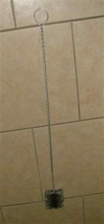 Rechteckbürste Stahl, gedrehter Stiel 70x30 mm (Auswahlmöglichkeiten)