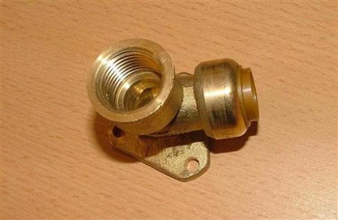 """Kupfer Steckfitting Deckenwinkel 15 mm x 1/2"""" IG (Auswahlmöglichkeiten)"""