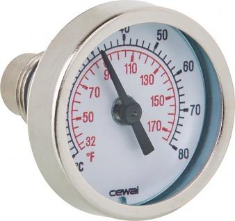 Bimetallthermometer Ø41mm 30mm 0°- 80°C / 3/8 Zoll (Auswahlmöglichkeiten)