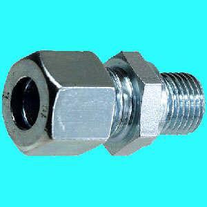 """Stahl Schneidring-Verschr. GEV verz. 4mm x R 1/8"""" konisch (Auswahlmöglichkeiten)"""
