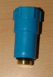 Baustopfen blau mit Messinggewinde 1/2 Zoll (Auswahlmöglichkeiten) - Vorschau