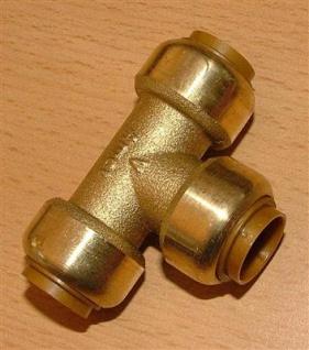 Kupfer Steckfitting T-Stück 15 mm i/i/i (Auswahlmöglichkeiten)