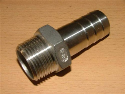 """Edelstahl - Schlauchstück (V2A) 3/8"""" x11 mm AG (Auswahlmöglichkeiten)"""