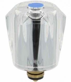 """Sanitäroberteil 3/8"""" Kristallgriff kalt blau (Auswahlmöglichkeiten) - Vorschau"""
