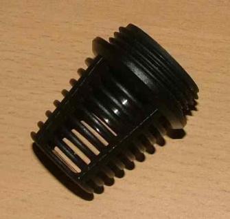 """Saugkorb Kunststoff schwarz 1/2"""" AG (Auswahlmöglichkeiten)"""