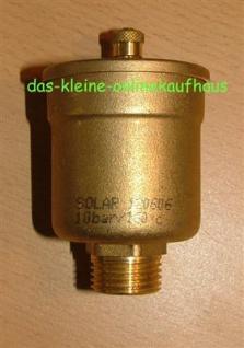Automatischer Entlüfter SOLAR 3/8 Zoll (Auswahlmöglichkeiten)