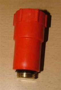 Baustopfen rot mit Messinggewinde 1/2 Zoll (Auswahlmöglichkeiten)