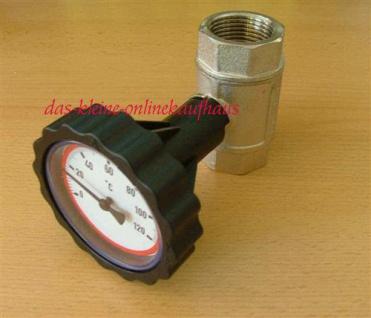 """Kugelhahn mit Thermometerhandrad rot 1/2"""" IG (Auswahlmöglichkeiten)"""