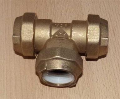 Messing PE - T-Stück 3x 20mm (Auswahlmöglichkeiten)
