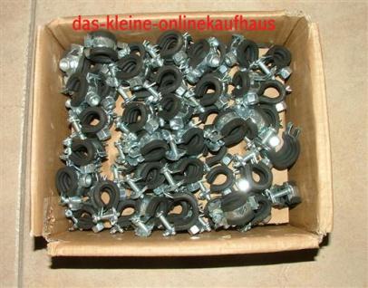 Rohrschellen 40-43mm 50 Stück (Auswahlmöglichkeiten)