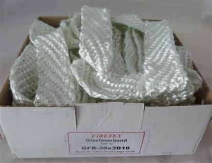Glasfaserband, 500°C / 30 x 3mm x 10m (Auswahlmöglichkeiten)