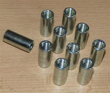 Distanzmuffen rund 10 Stck. M 8x 25 x 11mm (Auswahlmöglichkeiten)