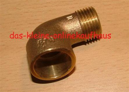 """Rotguss Lötfitting ÜG-Winkel 90° / I-AG / 12 mm x 3/8""""/ DVGW zugel. (Auswahlmöglichkeiten) - Vorschau"""