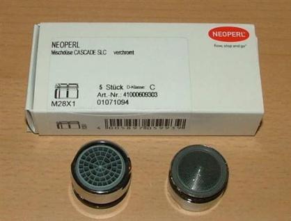 Neoperl® PERLATOR® / Cascade® / SLC A PERLATOR® 28x1 / 5 Stück (VPE) = 1Stück (Auswahlmöglichkeiten)
