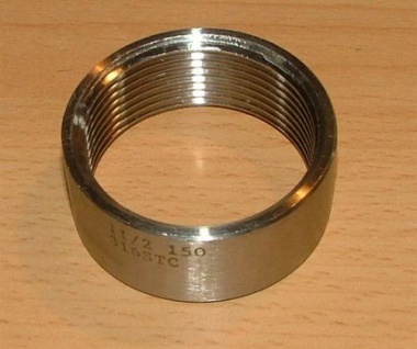 """Edelstahl - Gewindefitting Halbe Muffe (V4A) 1/4"""" x11mm IG/IG (Auswahlmöglichkeiten)"""