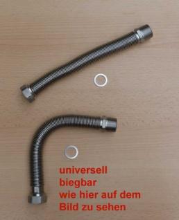 """Edelstahlflexwellrohre ausziehbar 1/2"""", 75 - 130mm (Auswahlmöglichkeiten) - Vorschau"""