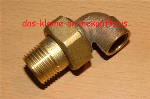 Fittinge-22 mm Rohrverschraubung Rotguss,konisch dicht