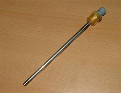 Tauchhülse Edelstahl 1/2 Zollx200 incl. Plastverschraubung für Kabel (Auswahlmöglichkeiten)