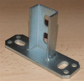 Sattelflansch senkrecht für Montageschiene 27/18mm + 28/30, 1Stück (Auswahlmöglichkeiten)