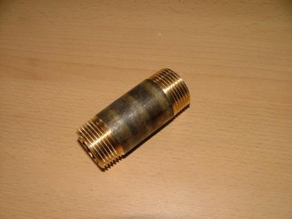"""Rotguß Gewindefitting Rohrdoppeln. 3/4"""" x40mm AG/AG (Auswahlmöglichkeiten)"""