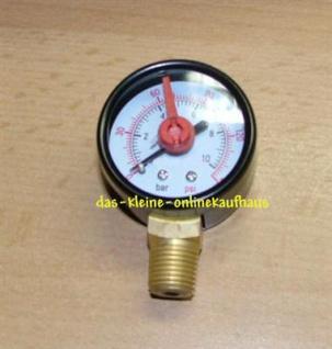 """Manometer m.OZ 0-4Bar/Radial Durch.40mm/1/4"""" AG (Auswahlmöglichkeiten)"""