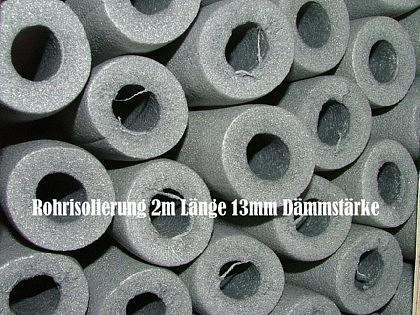 Rohrisolierung 2m Stange Ø 15 x 13mm Dämmstärke (Auswahlmöglichkeiten) - Vorschau