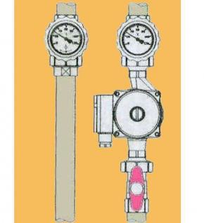 Heizkreisset Easyflow 1 Zoll ohne Überströmer ( Ohne Heizkreispumpe ) (Auswahlmöglichkeiten)