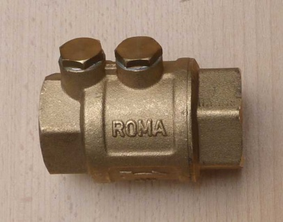 """Messingrückschlagventil ROMA 1/2"""" mit doppelter Entleerung (Auswahlmöglichkeiten)"""