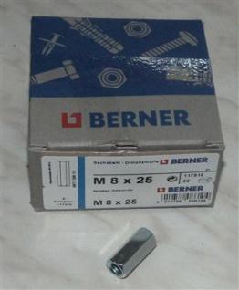 Distanzmuffen sechskant 50 Stck. M8x25 BERNER (Auswahlmöglichkeiten) - Vorschau