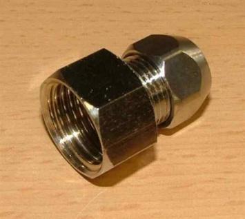 """Verchromt Verschraubung gerade Quetsche IG 3/8"""" x8mm (Auswahlmöglichkeiten) - Vorschau"""