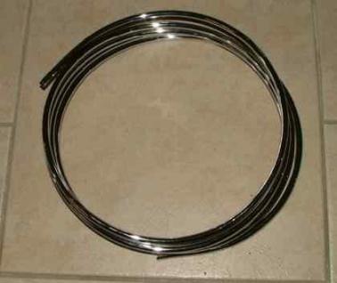 Verchromtes Kupferrohr, Durchmesser 8 mm x 5 m (Auswahlmöglichkeiten)