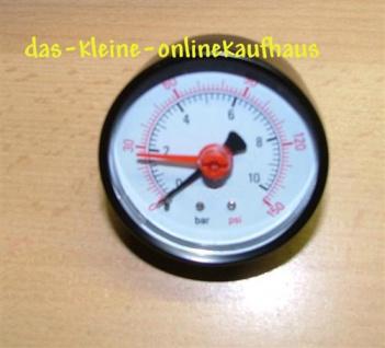 """Manometer m.OZ 0-10 Bar/Axial Durch.60mm/1/4"""" AG (Auswahlmöglichkeiten) - Vorschau"""