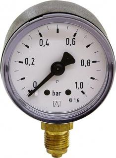 """Manometer 0 / 6 Bar / Radial Durch.40mm / 1/8"""" AG (Auswahlmöglichkeiten)"""