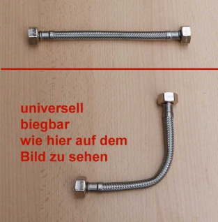 """Panzerflexschlauch 1/2"""" Mutter x 1/2"""" Mutter, DN8 150mm (Auswahlmöglichkeiten) - Vorschau"""