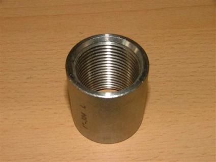 """Edelstahl - Anschweißmuffen (V2A) 3/8"""" x26mm IG (Auswahlmöglichkeiten) - Vorschau"""