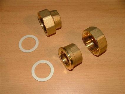 """Messing Pumpenverschraubungsatz 1"""" (2 Stück) (Auswahlmöglichkeiten)"""