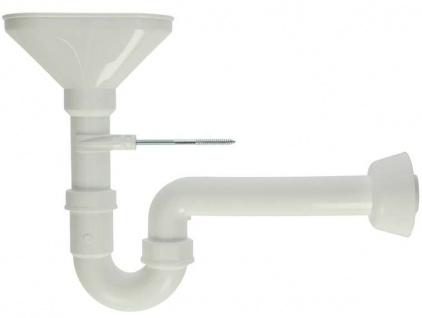 Trichter Sifon mit Wandbefestigung // 40mm (Auswahlmöglichkeiten) - Vorschau
